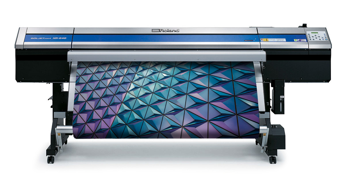 64 inch wide Roland XR-640 Printer